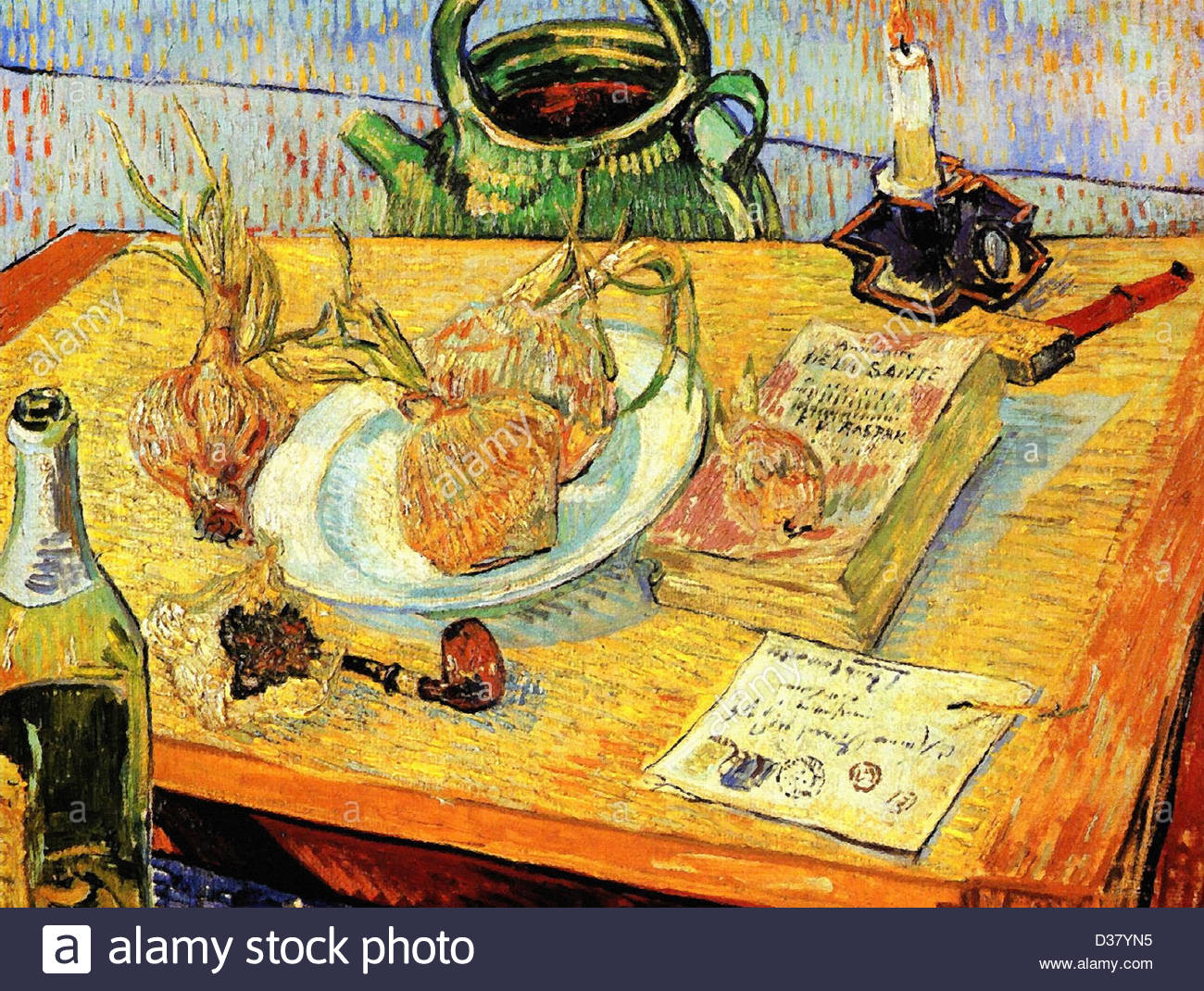 Vincent van Gogh, Still Life with Drawing Board, Pipe, Onions and Sealing-Wax. 1889